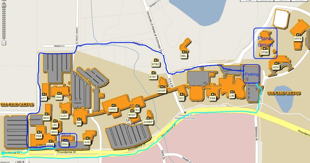 Uaa campus map